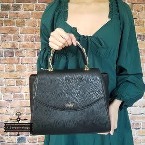 Kate spade Kim Murray street black satchel leather